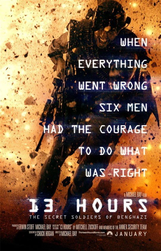 13 Hours: The Secret Soldiers of Benghazi Poster Large