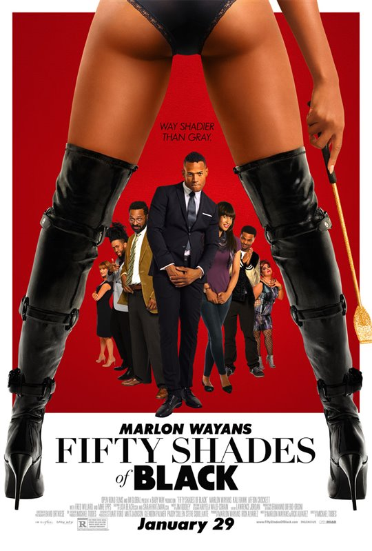 Fifty Shades of Black Poster Large