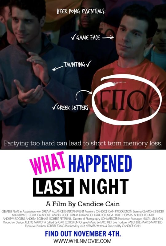 What Happened Last Night Poster Large