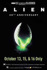 Alien 40th Anniversary (1979) presented by TCM Movie Poster