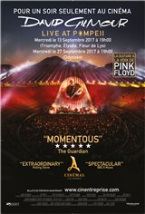 David Gilmour Live at Pompeii Affiche de film
