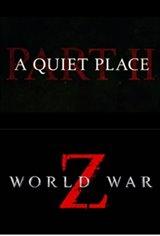 Double Feature: A Quiet Place Part II + World War Z Affiche de film
