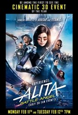 Experience Alita: Battle Angel Early - IMAX 3D Fan Event Movie Poster
