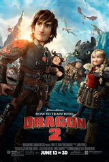 How to Train Your Dragon 2 3D Movie Poster