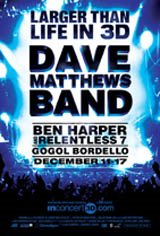 Larger Than Life In 3D: Dave Matthews Band Movie Poster