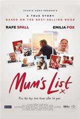 Mum's List Large Poster