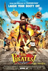 The Pirates! Band of Misfits 3D Movie Poster