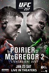 UFC 257: Poirier vs McGregor Large Poster