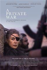 Une guerre privée Affiche de film