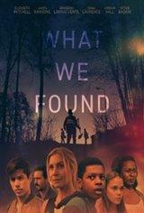What We Found Affiche de film