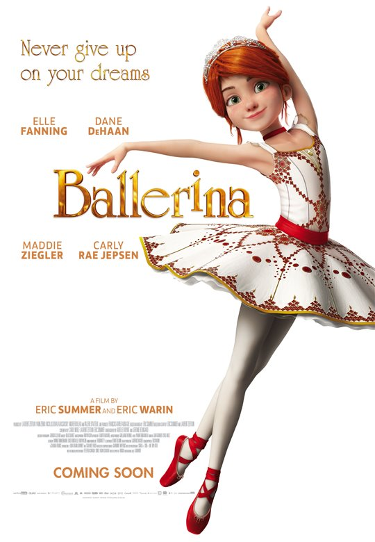 Ballerina poster for New kid movies coming out this weekend