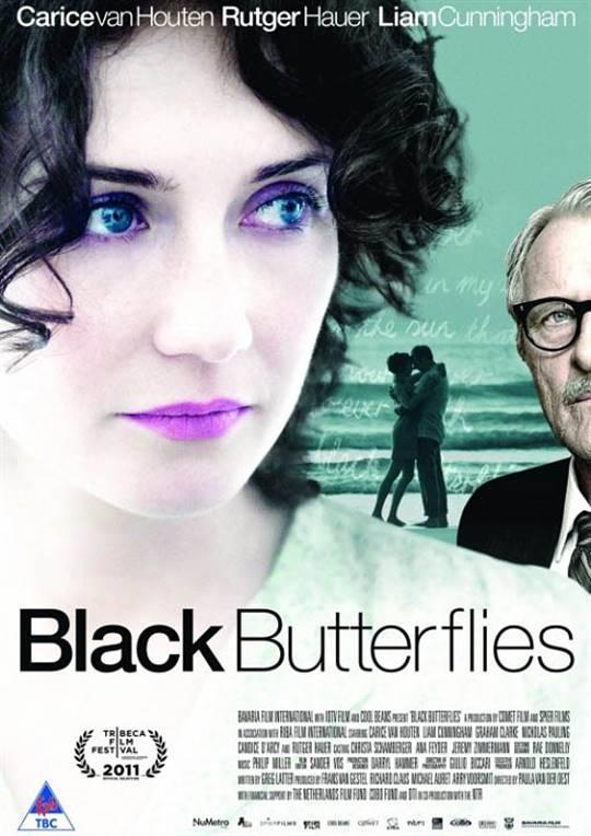 Black Butterflies Large Poster