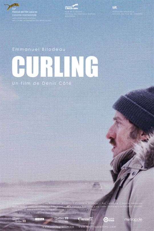 Curling Large Poster