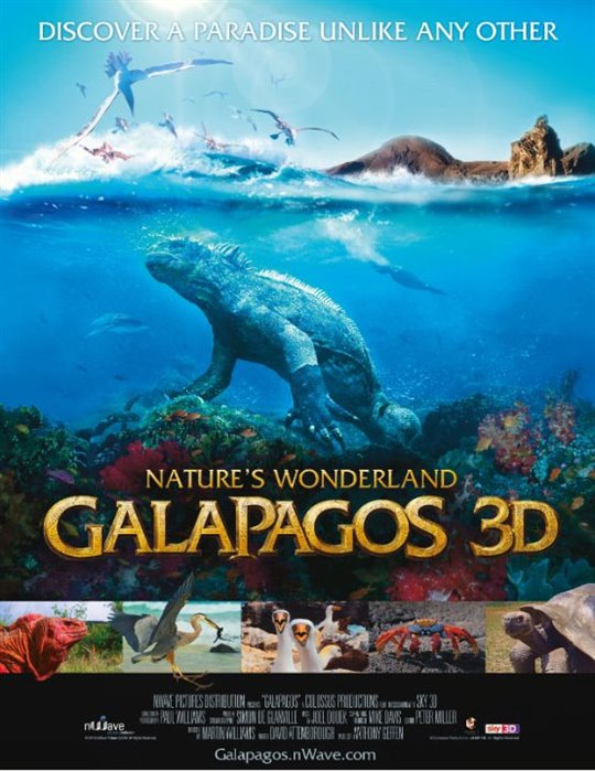 Galapagos In 3D Large Poster