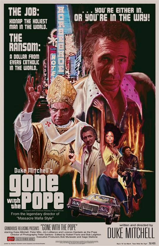 Gone With the Pope Large Poster