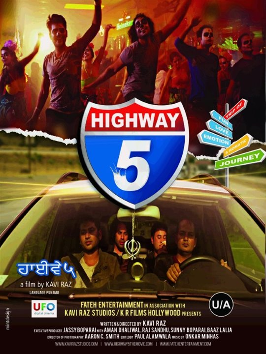 Highway 5 Large Poster