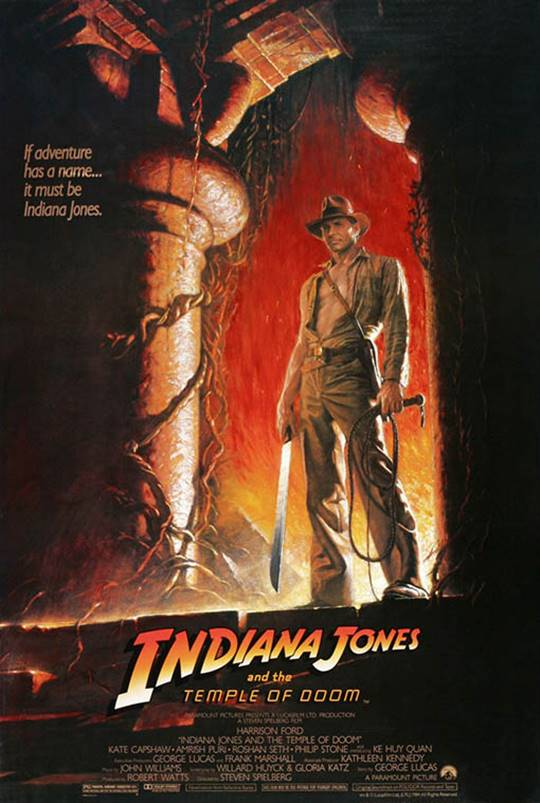 Indiana Jones and the Temple Of Doom Large Poster