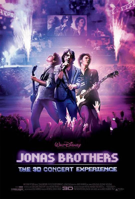 Jonas Brothers: The 3D Concert Experience Large Poster