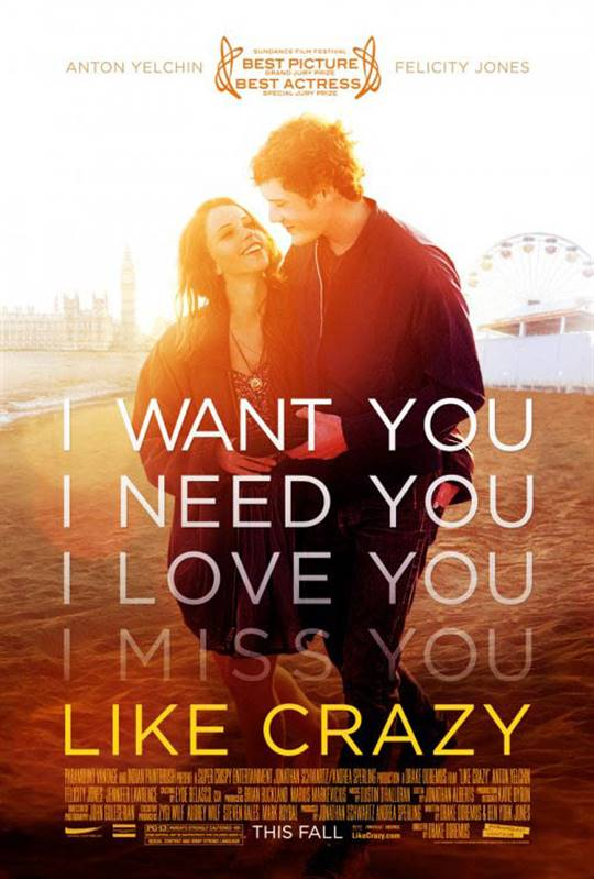 Like Crazy (2011) Large Poster