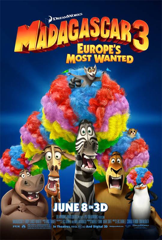 Madagascar 3: Europe's Most Wanted Large Poster
