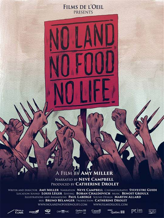 No Land No Food No Life Large Poster