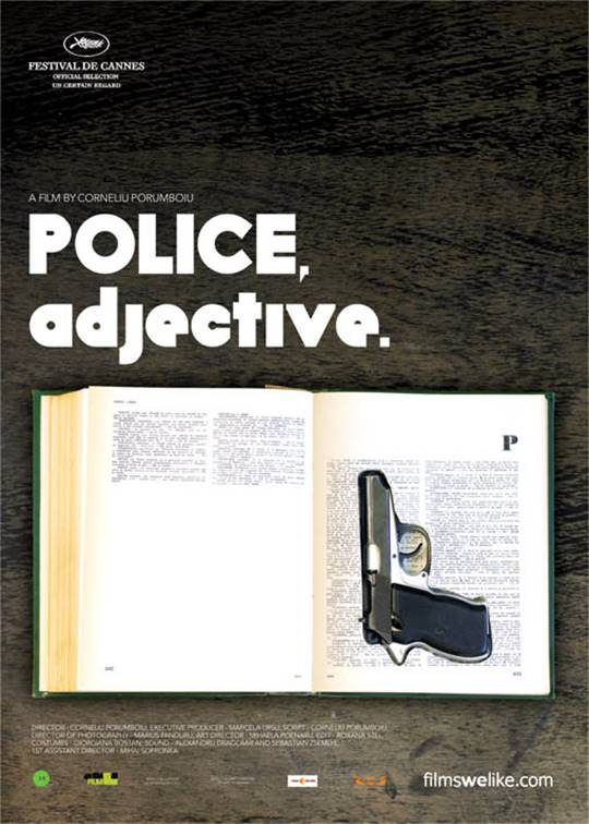 Police, adjective (Politist, adjective) Large Poster