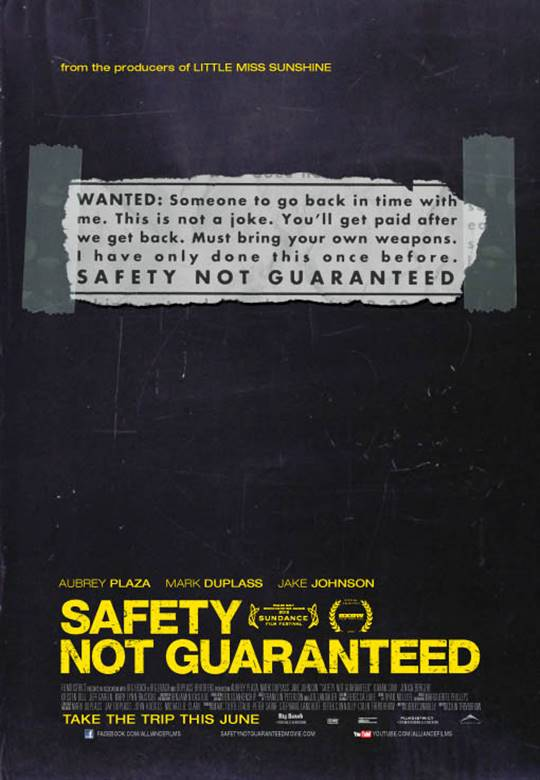 Safety Not Guaranteed Large Poster