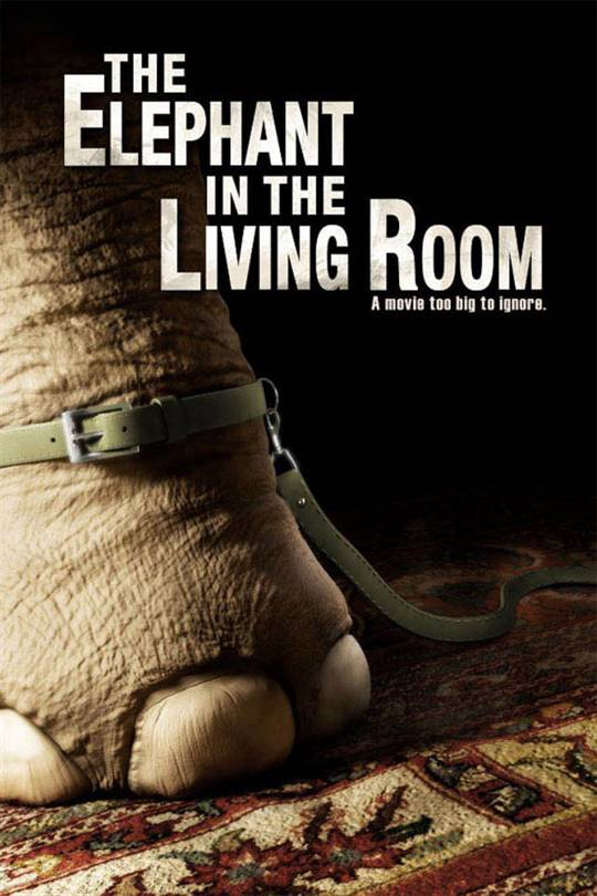 The Elephant in the Living Room Large Poster