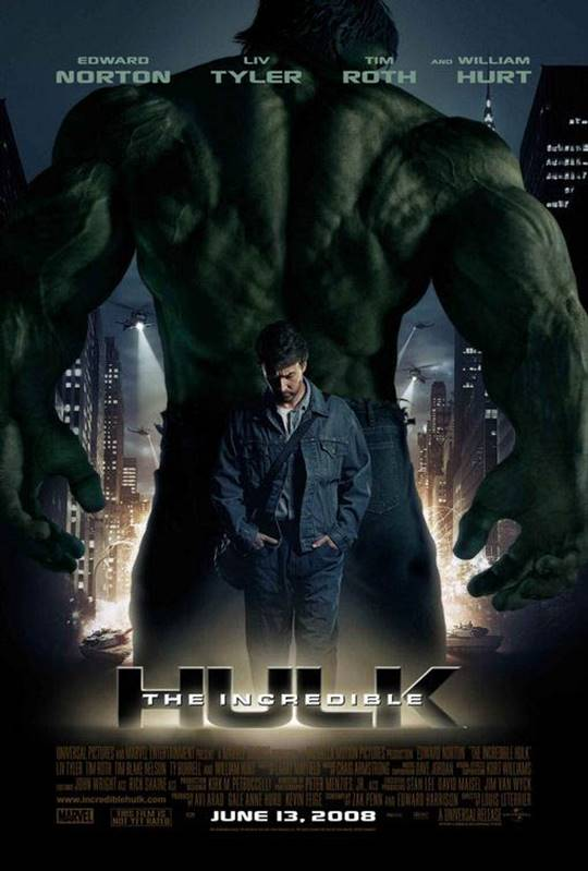 The Incredible Hulk Large Poster