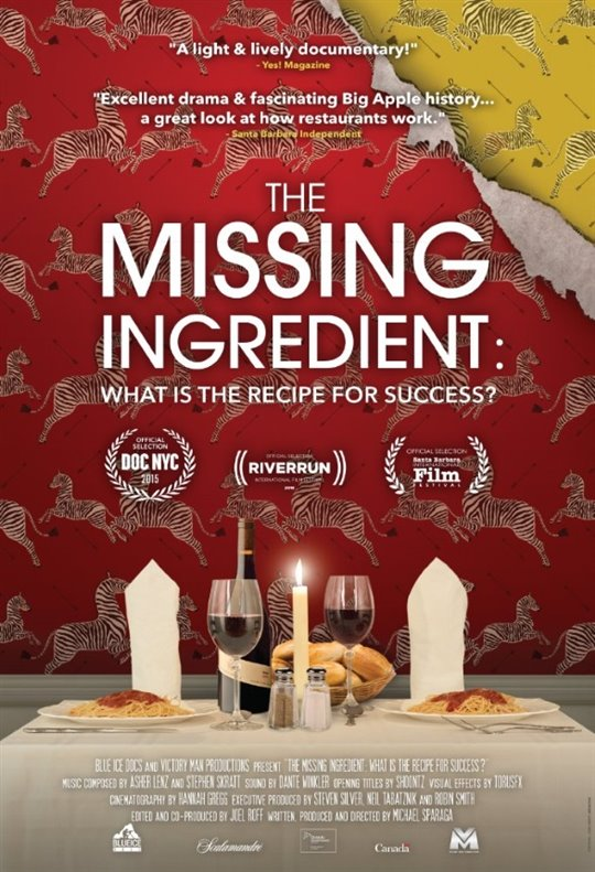 The Missing Ingredient: What is the Recipe for Success? Large Poster