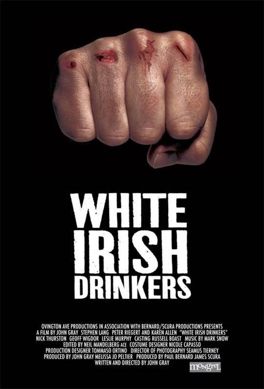White Irish Drinkers Large Poster