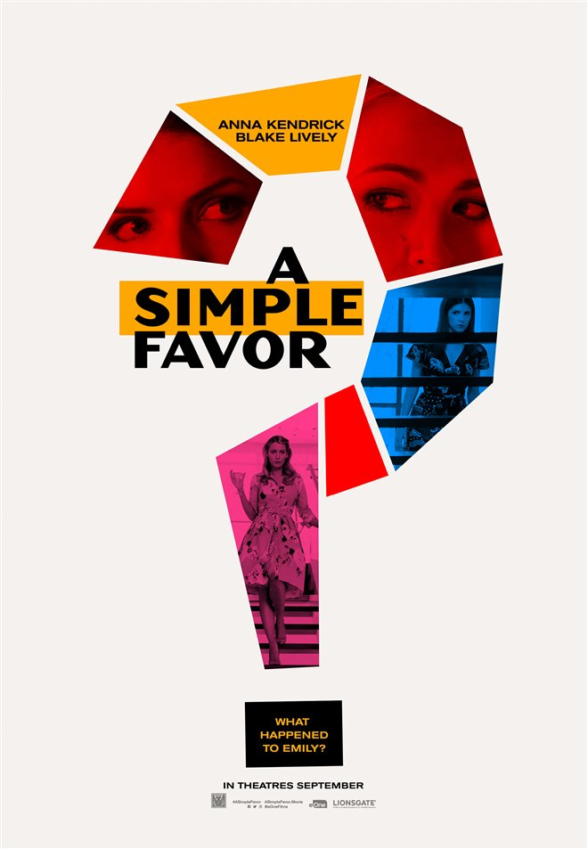 A Simple Favor Large Poster