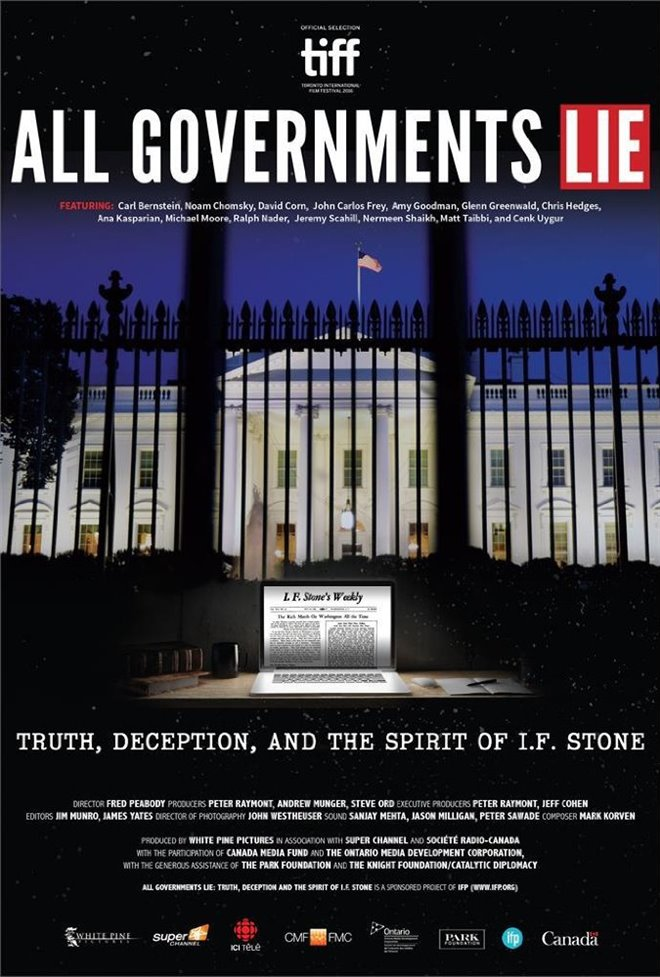 All Governments Lie: Truth, Deception, and the Spirit of I.F. Stone Large Poster