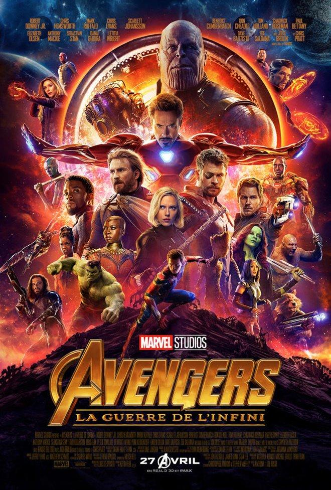 Avengers : La guerre de l'infini Large Poster