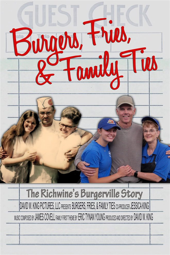 Burgers, Fries & Family Ties Large Poster