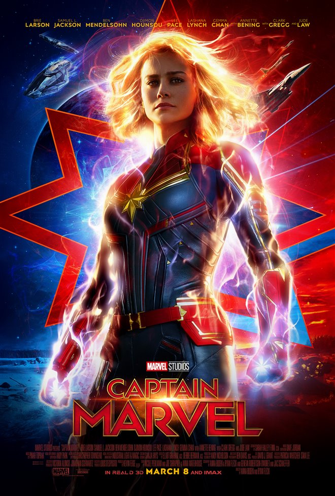 Captain Marvel Large Poster