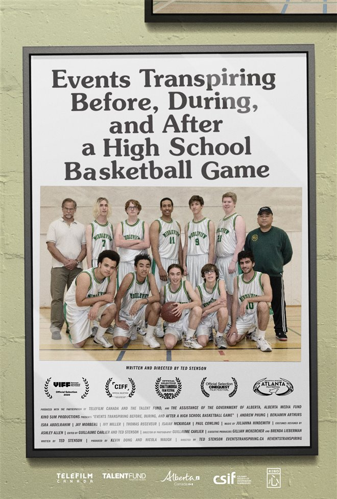 Events Transpiring Before, During, and After a High School Basketball Game Poster