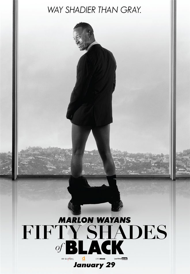 Fifty Shades of Black Large Poster