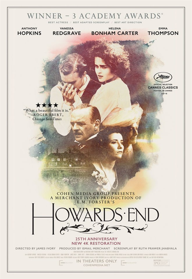 Howards End - Restored in 4K Large Poster