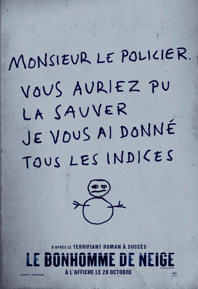 Le bonhomme de neige Large Poster