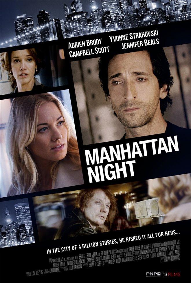 Manhattan Night Large Poster
