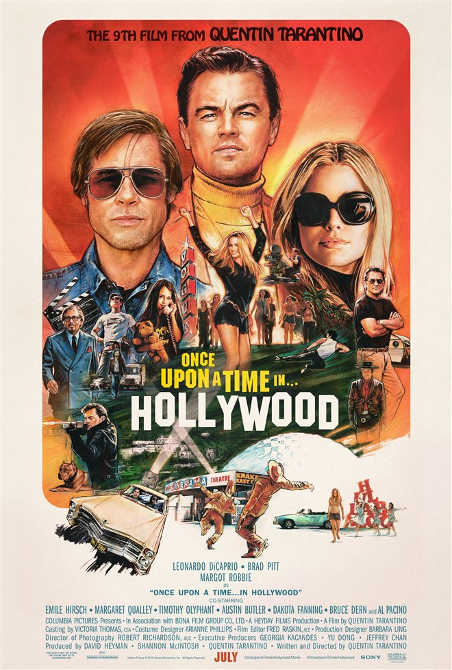 Once Upon a Time in Hollywood Large Poster