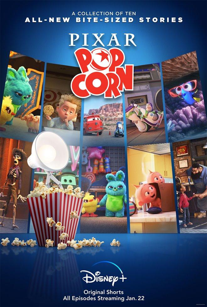 Pixar Popcorn (Disney+) Large Poster