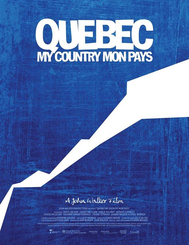 Quebec My Country Mon Pays (v.o.f.) Large Poster