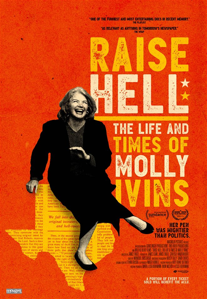 Raise Hell: The Life and Times of Molly Ivins Large Poster