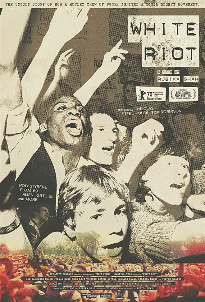 White Riot Large Poster