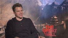Matt Damon Interview - The Great Wall Poster