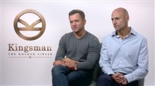 Taron Egerton & Mark Strong Interview - Kingsman: The Golden Circle Poster