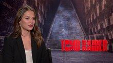 Alicia Vikander Interview - Tomb Raider Poster
