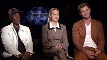 Don Cheadle, Brie Larson & Chris Hemsworth Interview